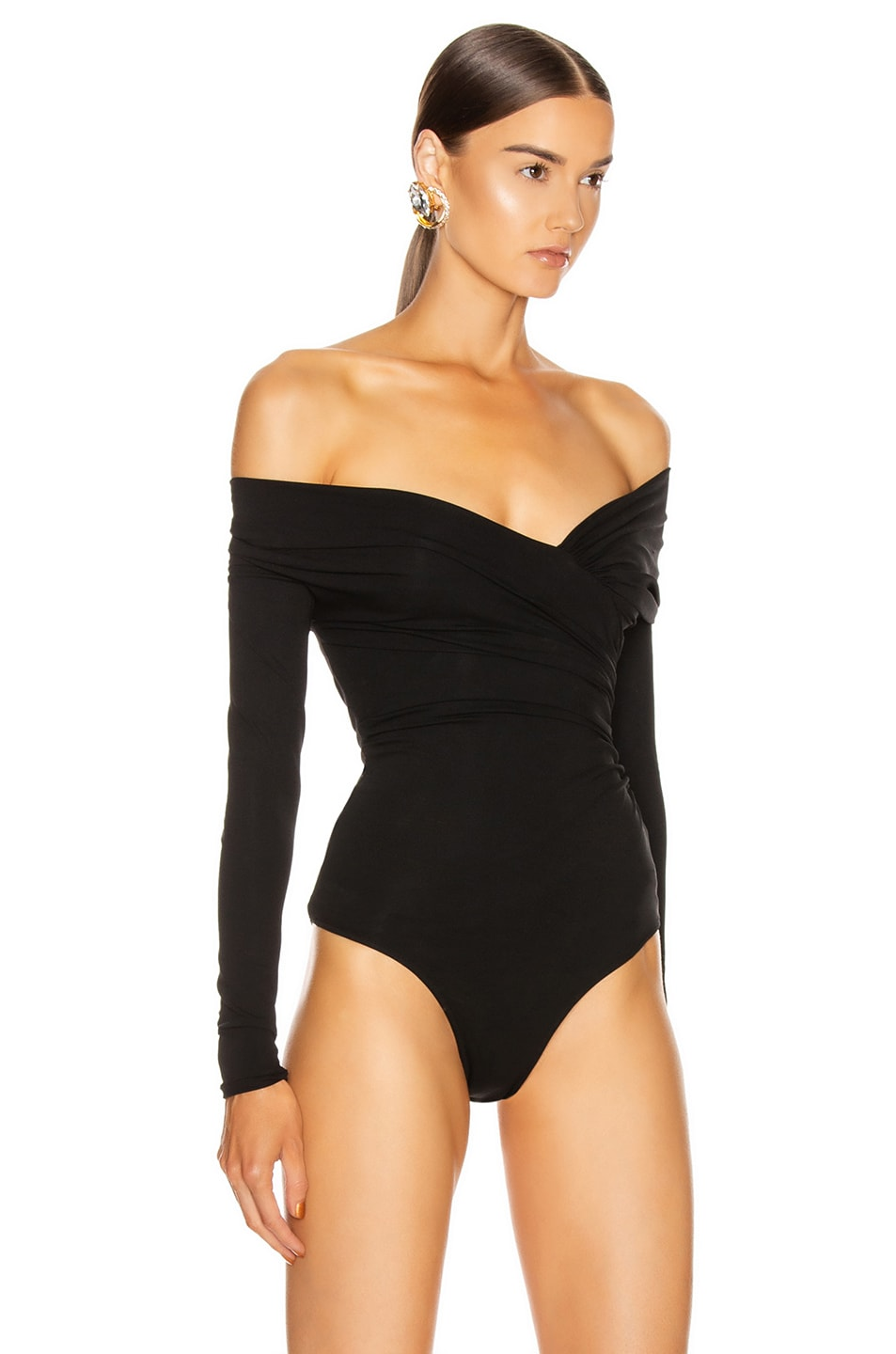 Image 3 of Alexandre Vauthier Stretch Jersey Bodysuit in Black