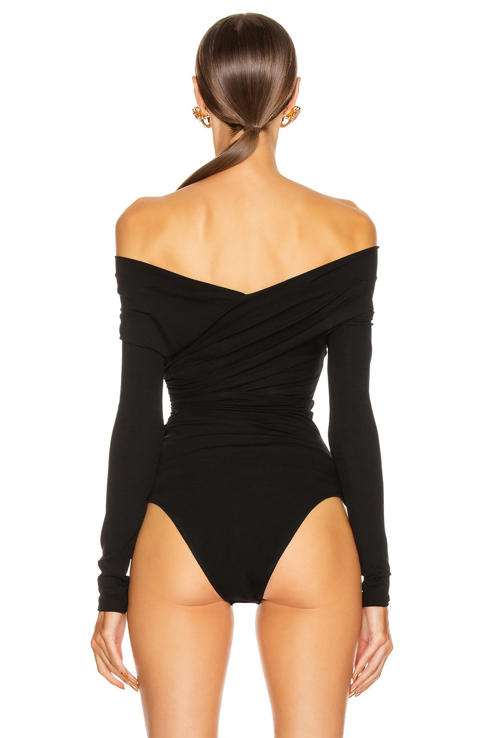 Image 4 of Alexandre Vauthier Stretch Jersey Bodysuit in Black