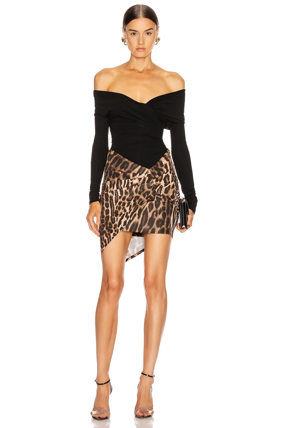 Image 5 of Alexandre Vauthier Stretch Jersey Bodysuit in Black