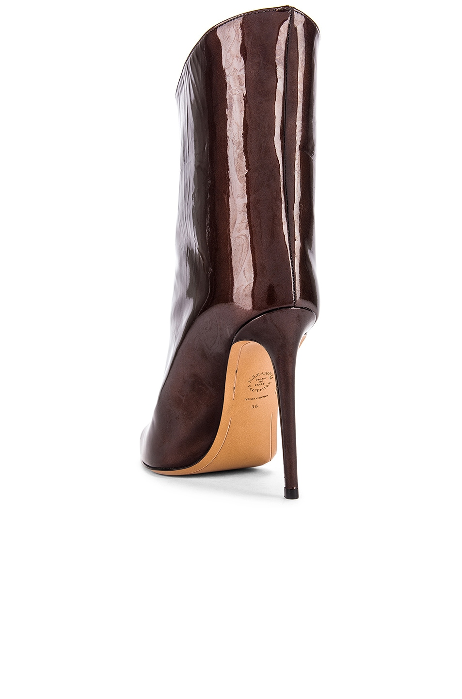 Image 3 of Alexandre Vauthier Alex Low Boot in Chocolate