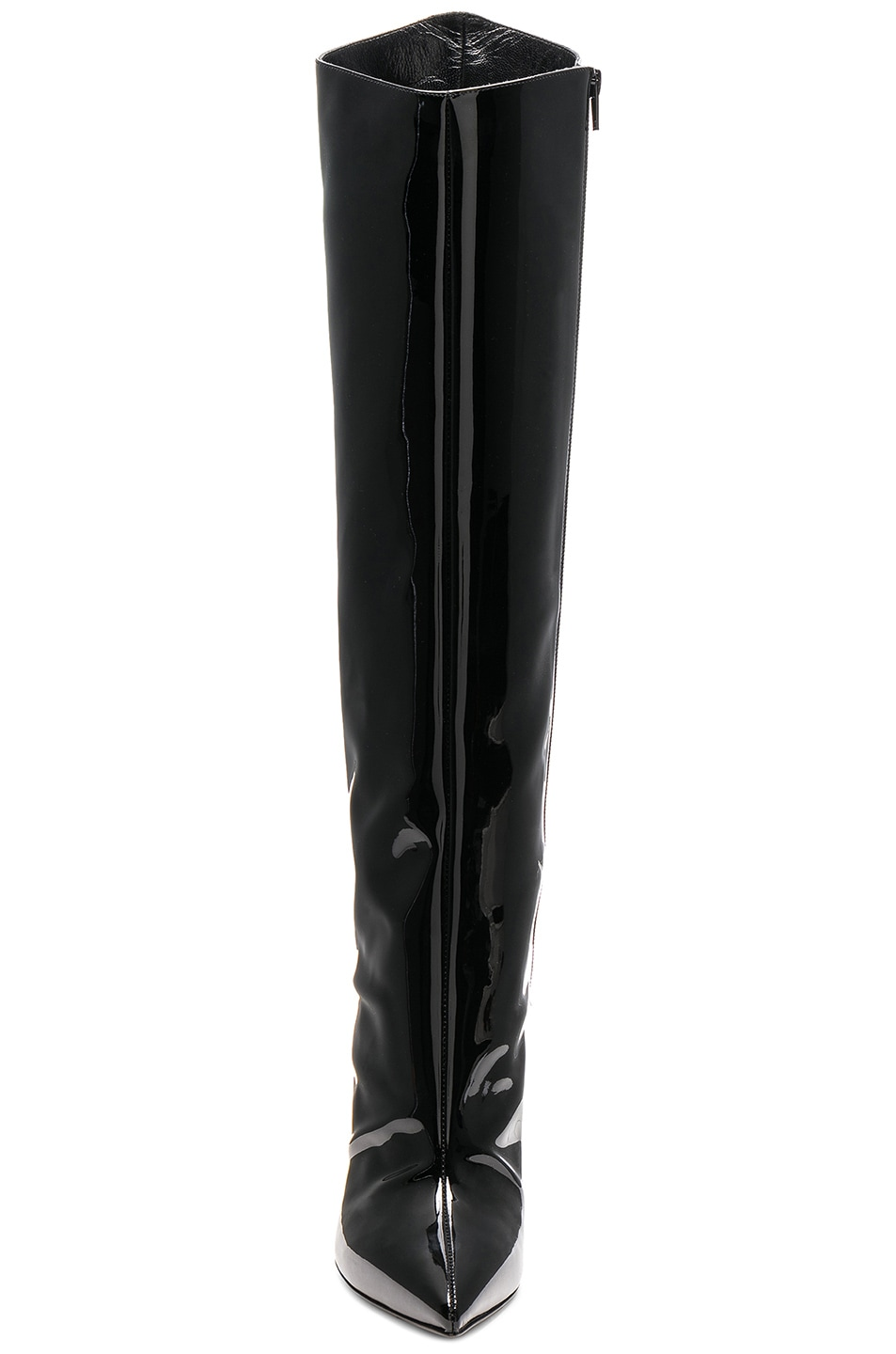 Image 4 of Alexandre Vauthier Patent Leather Alex Boots in Black Patent