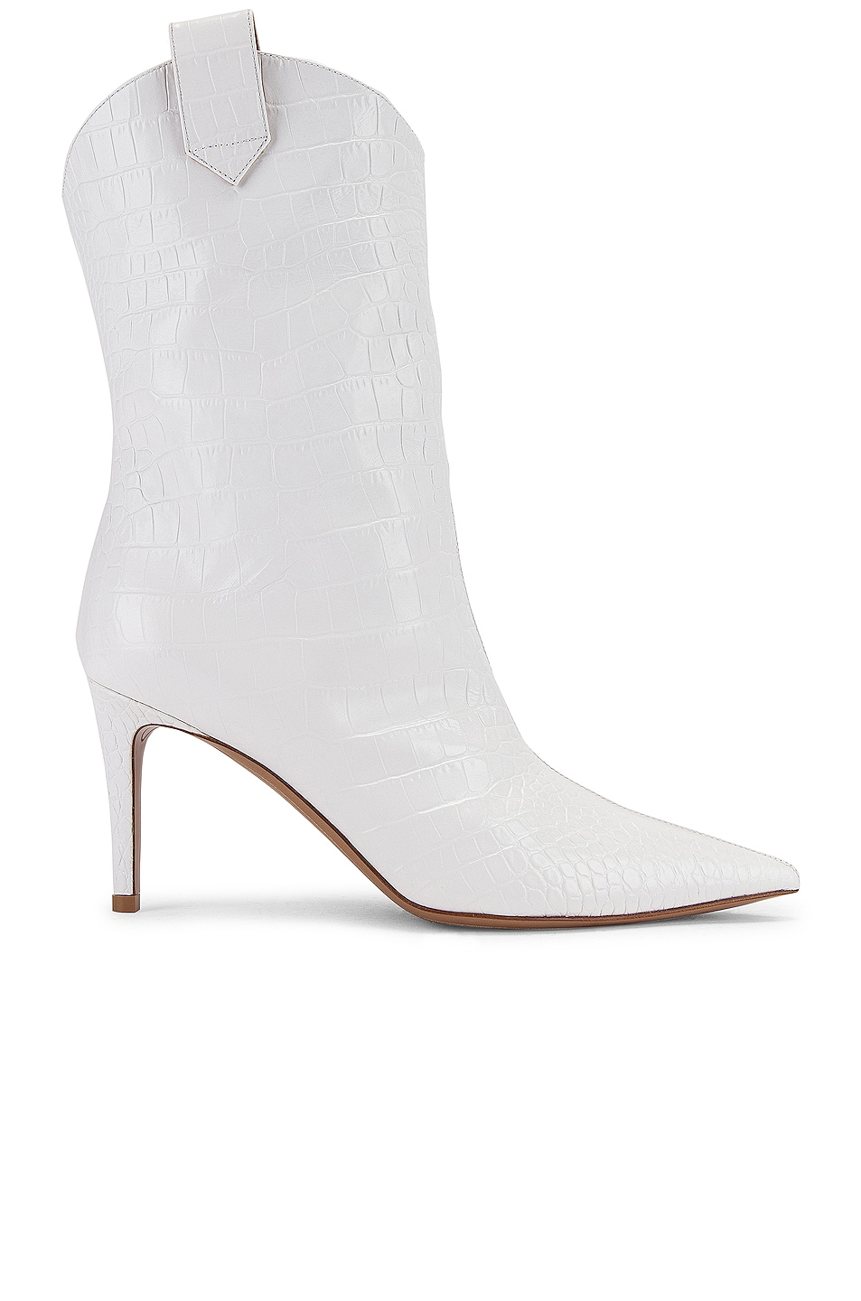 Image 1 of Alexandre Vauthier Wayne 80 Croco Boot in Off White