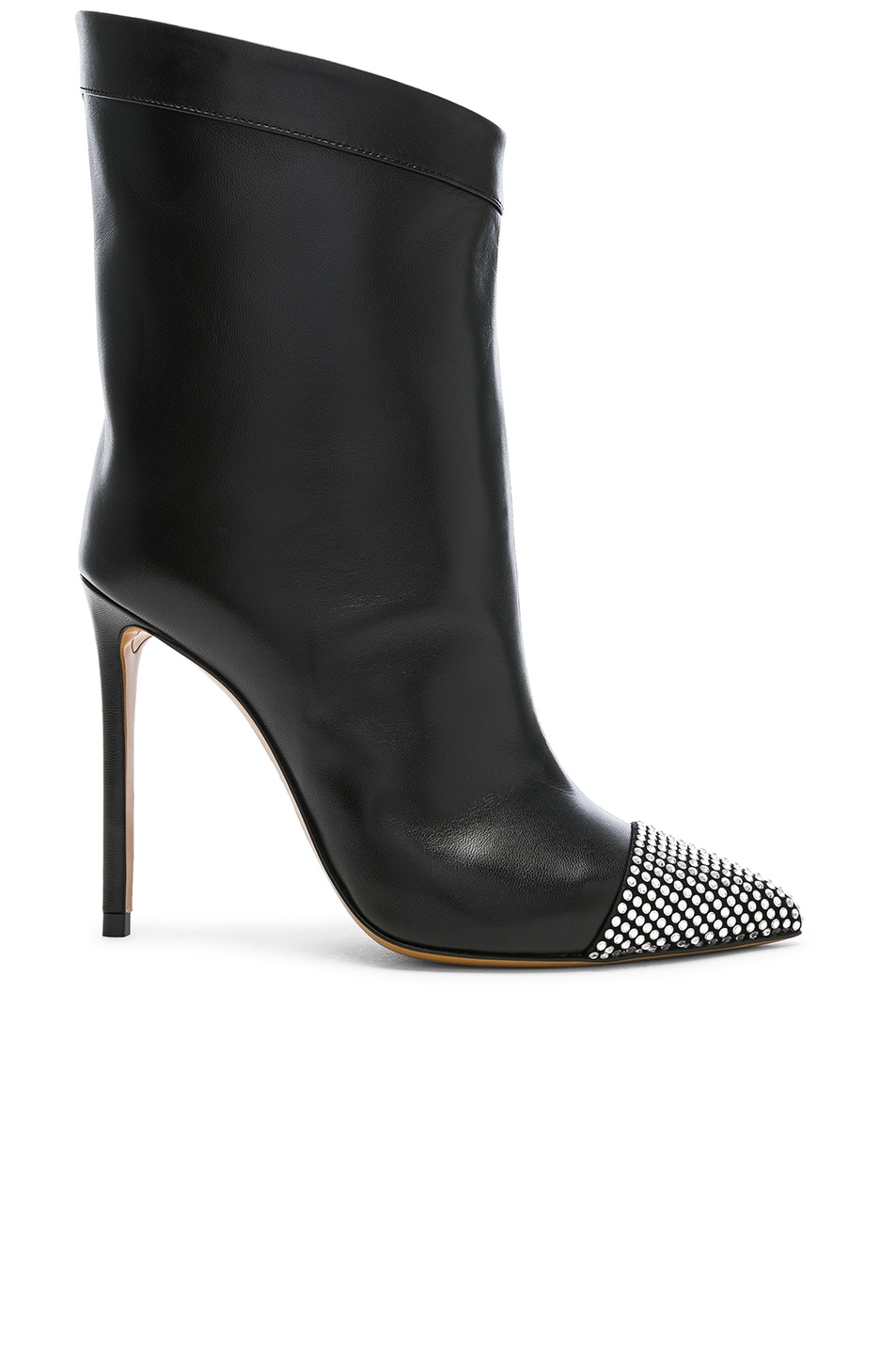 Image 1 of Alexandre Vauthier Leather Cha Cha Booties in Black
