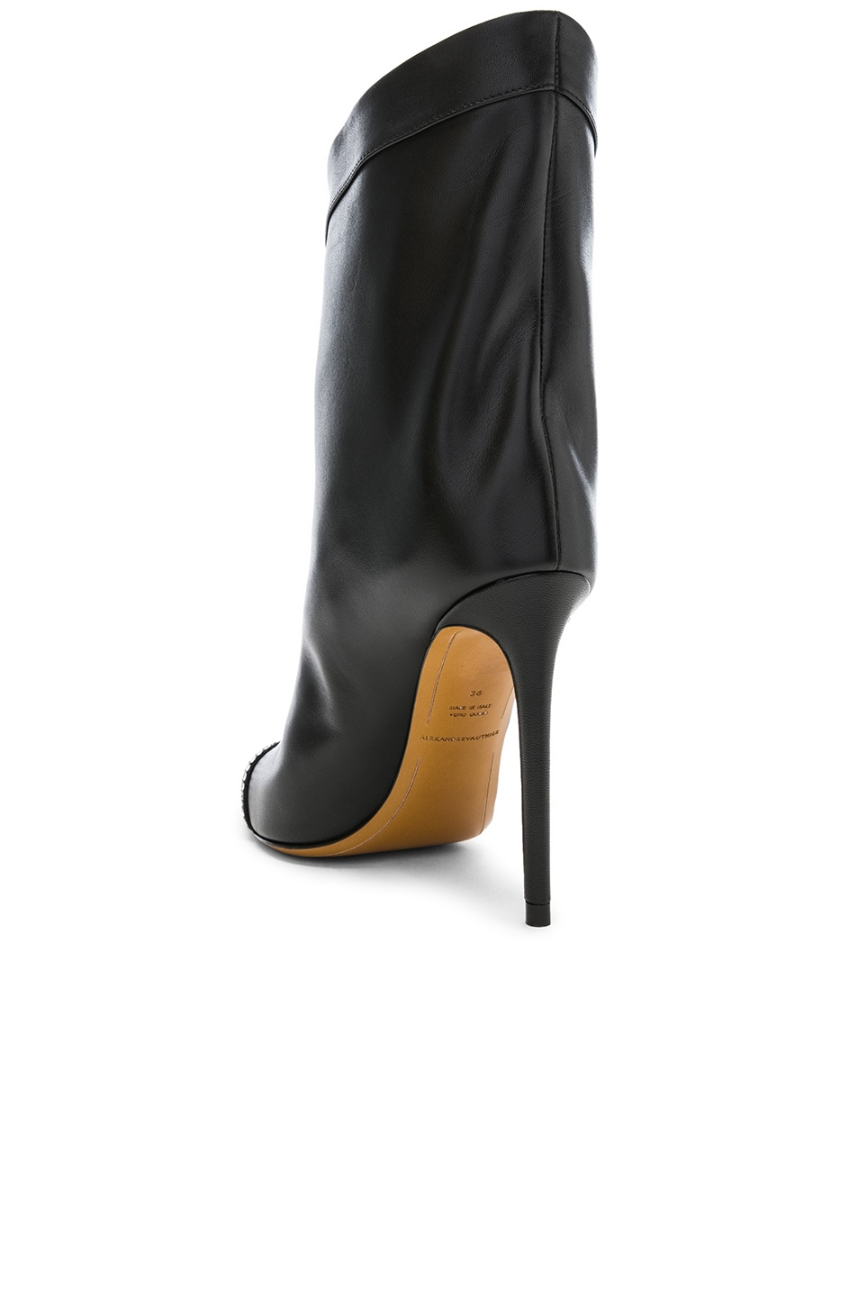 Image 3 of Alexandre Vauthier Leather Cha Cha Booties in Black