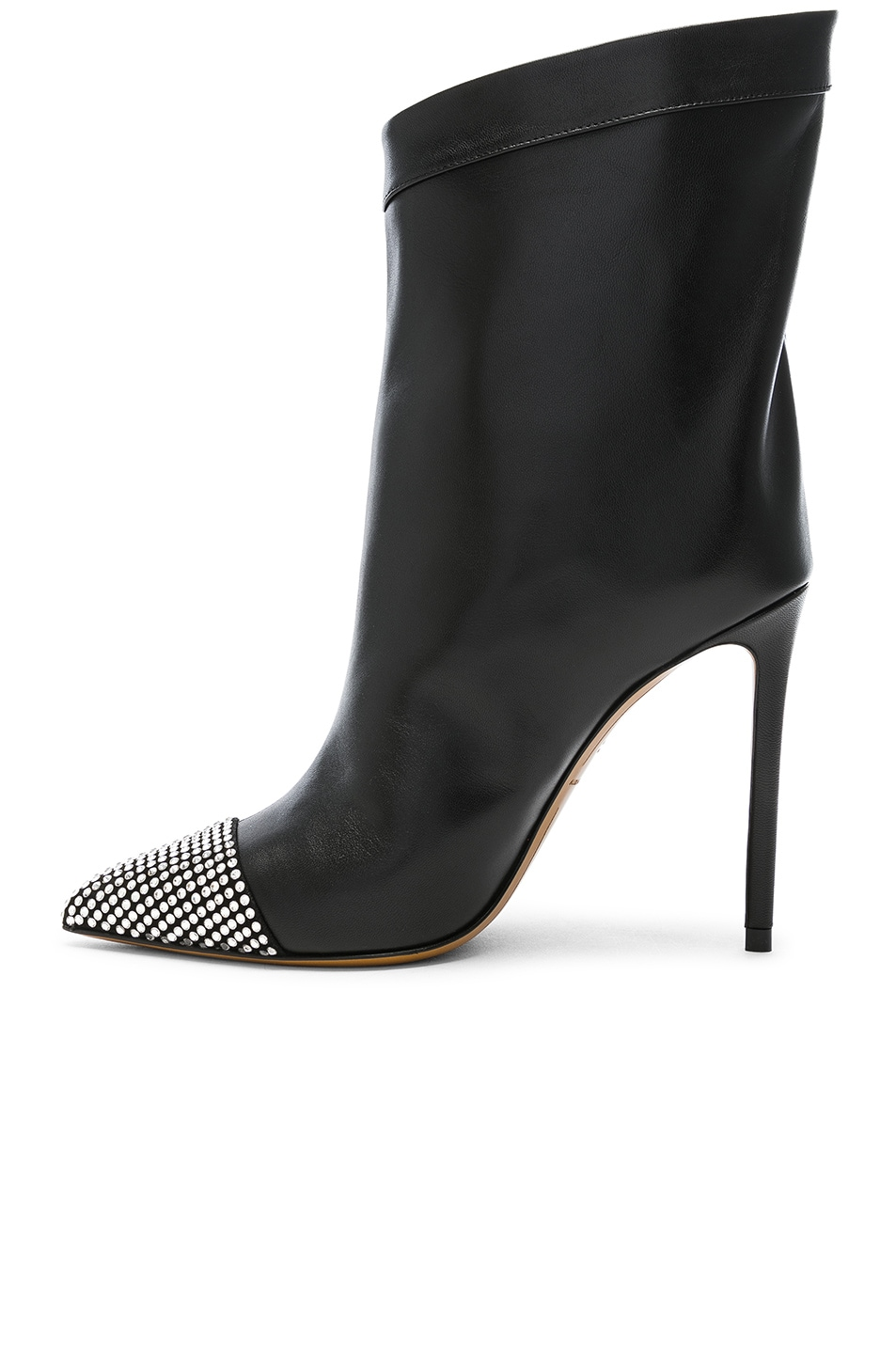 Image 5 of Alexandre Vauthier Leather Cha Cha Booties in Black