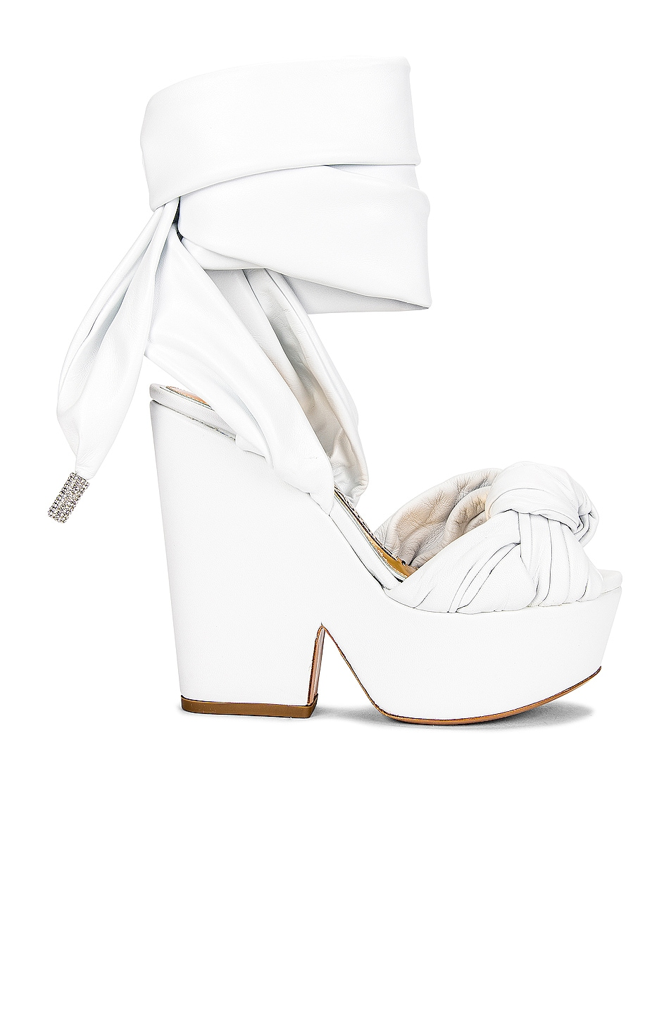 Image 1 of Alexandre Vauthier Leila Wedge in Nappa White