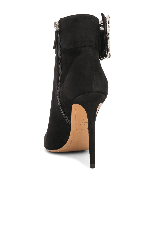 Image 3 of Alexandre Vauthier Suede & Swarovski Yasmin Booties in Black