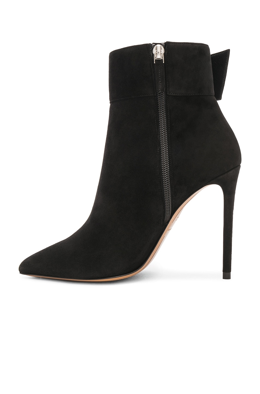 Image 5 of Alexandre Vauthier Suede & Swarovski Yasmin Booties in Black