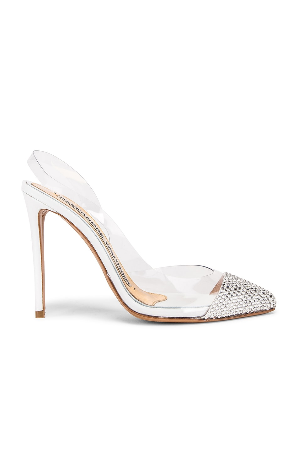 Image 1 of Alexandre Vauthier Amber Ghost Crystal Heel in Transparent