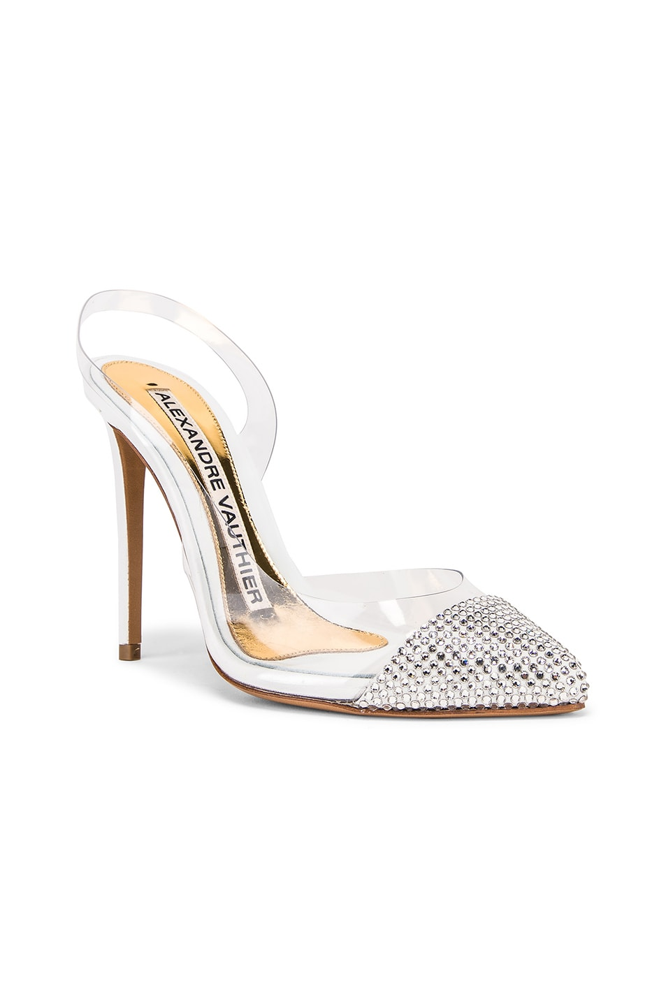 Image 2 of Alexandre Vauthier Amber Ghost Crystal Heel in Transparent