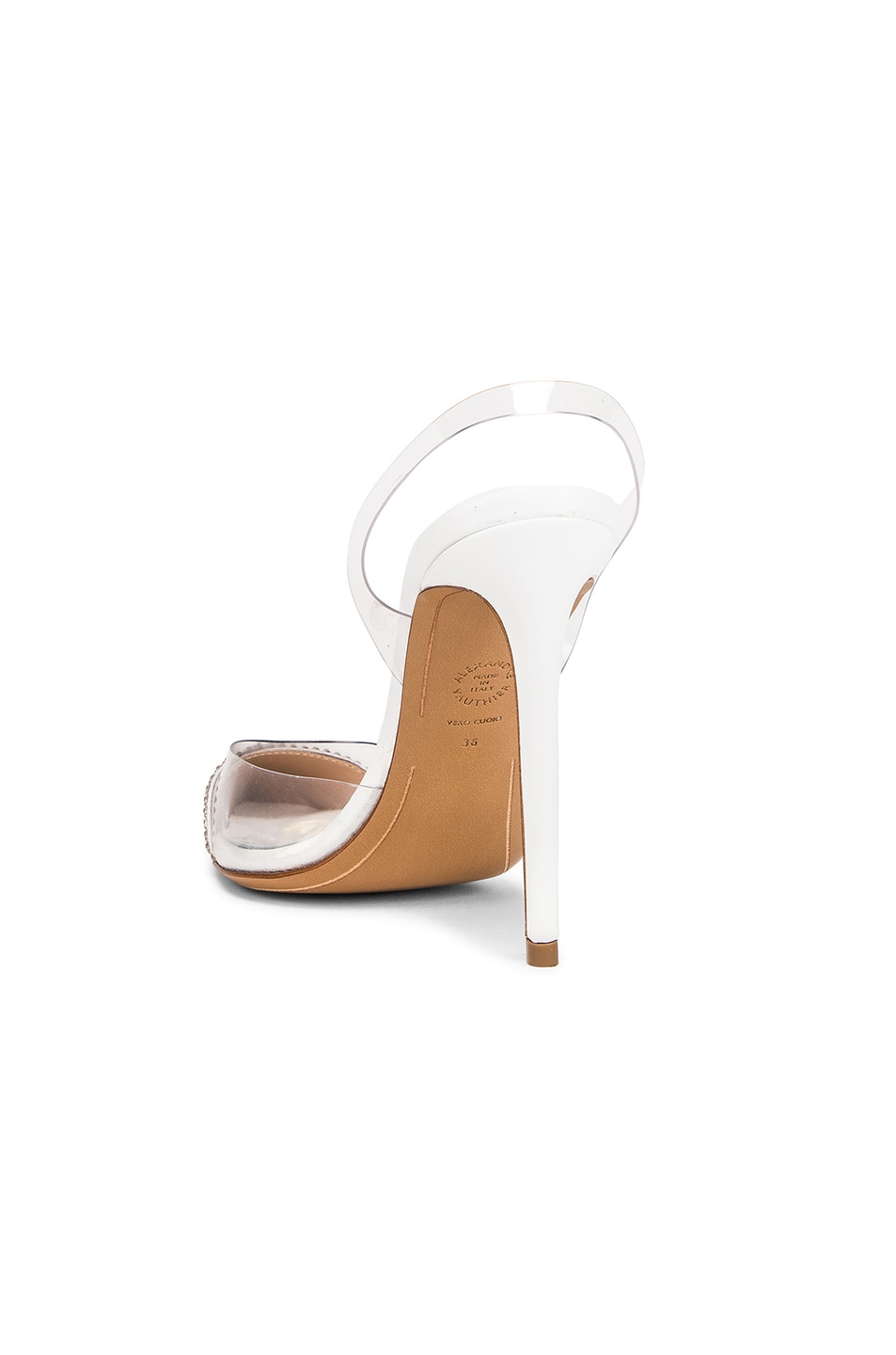 Image 3 of Alexandre Vauthier Amber Ghost Crystal Heel in Transparent