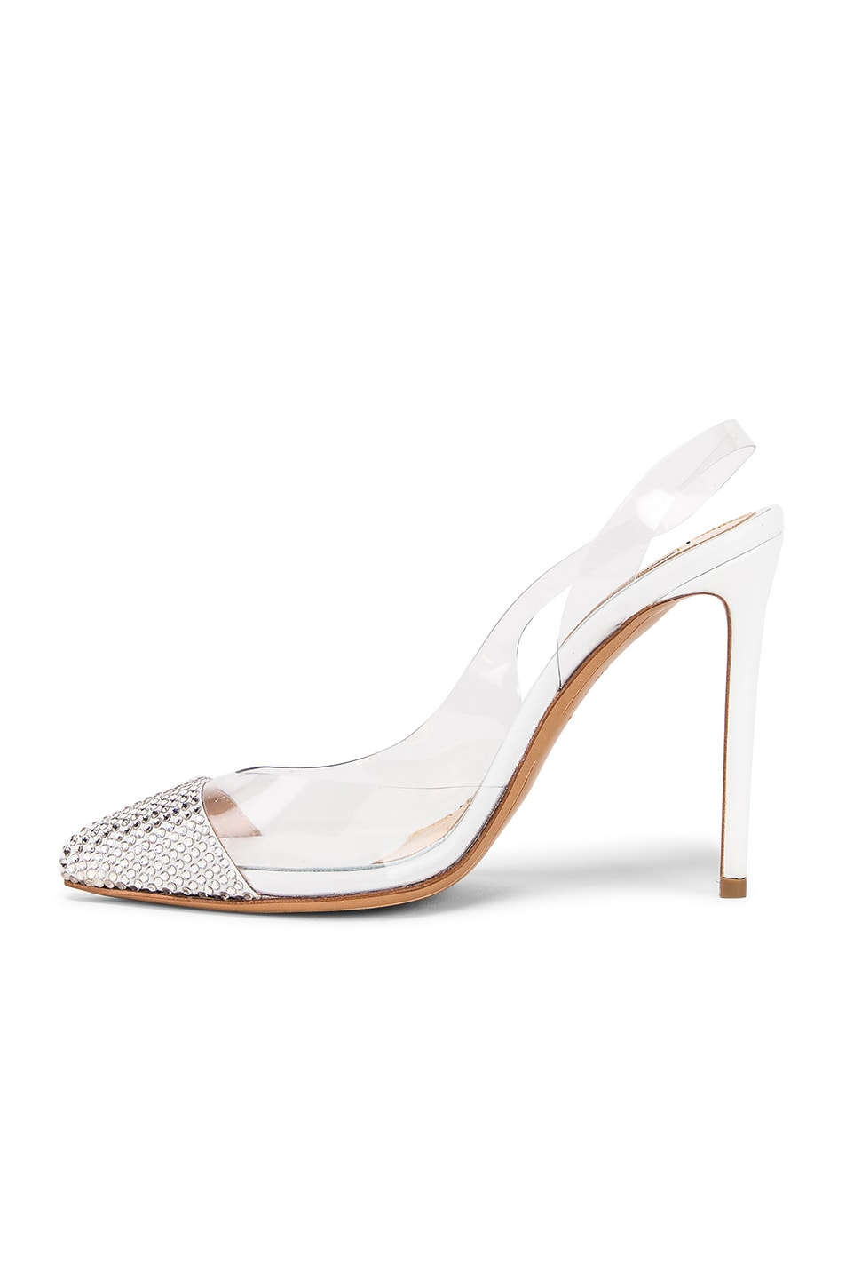 Image 5 of Alexandre Vauthier Amber Ghost Crystal Heel in Transparent