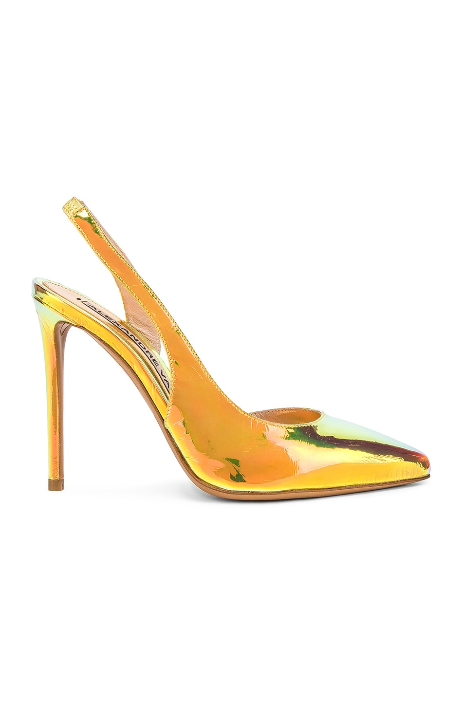 Image 1 of Alexandre Vauthier Amber Sling Heel in Gold