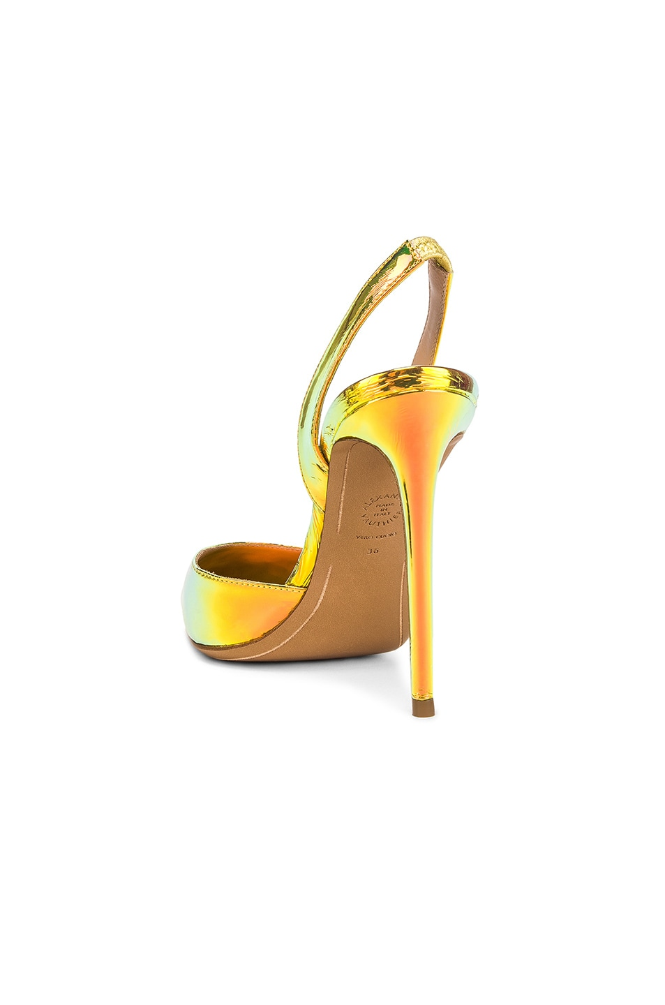 Image 3 of Alexandre Vauthier Amber Sling Heel in Gold