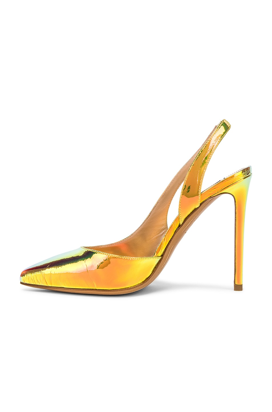 Image 5 of Alexandre Vauthier Amber Sling Heel in Gold