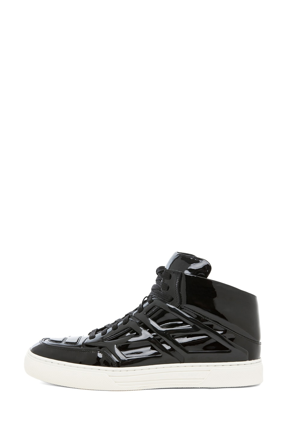 Image 1 of Alejandro Ingelmo Tron Patent Leather Sneaker in Black