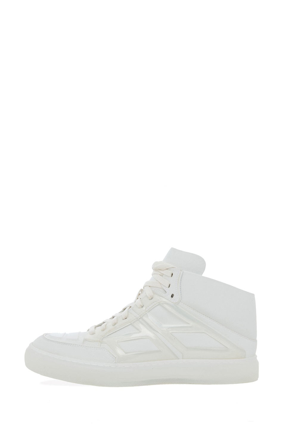 Image 1 of Alejandro Ingelmo Tron Ultra Suede Mid Top in White & Cedar