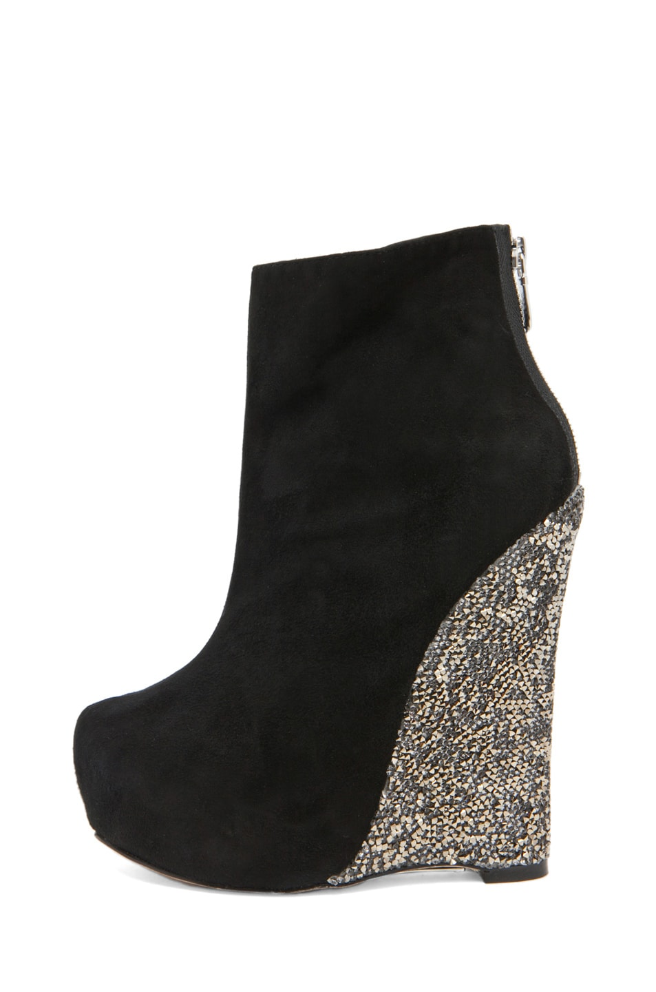 Image 1 of Alejandro Ingelmo Crystal Crosby Wedge in Black/Silver