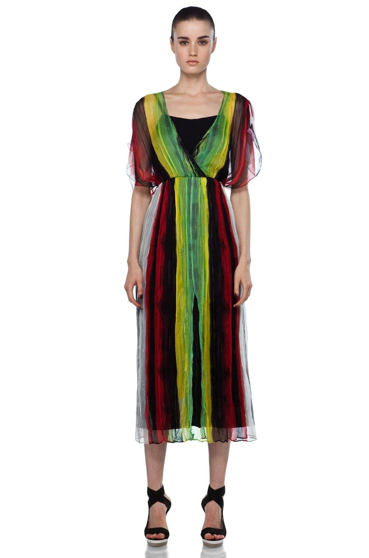 Image 1 of Alice + Olivia Celine Maxi Dolman Dress in Multi