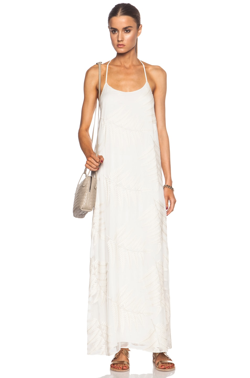 Image 1 of Alice + Olivia Kelly Silk Maxi in Off White