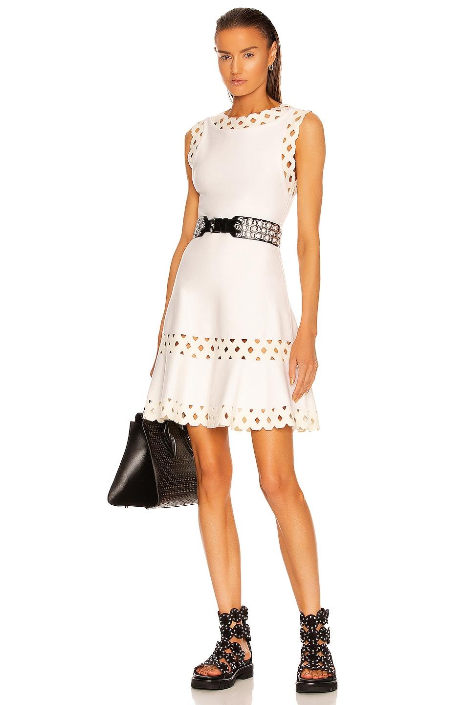 Image 1 of ALAÏA Edition Sleeveless Dress in Blanc