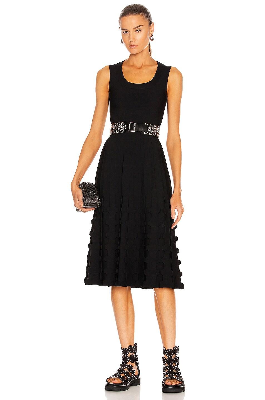 Image 1 of ALAÏA Sleeveless Midi Dress in Noir