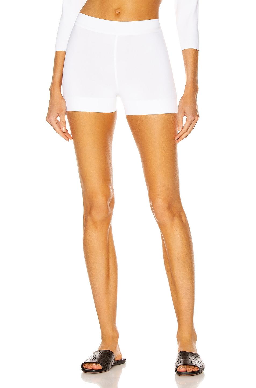 Image 1 of ALAÏA Biker Short in Blanc