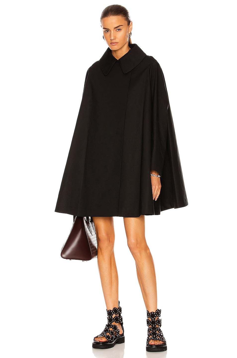Image 1 of ALAÏA Edition Trench Coat Cape in Noir