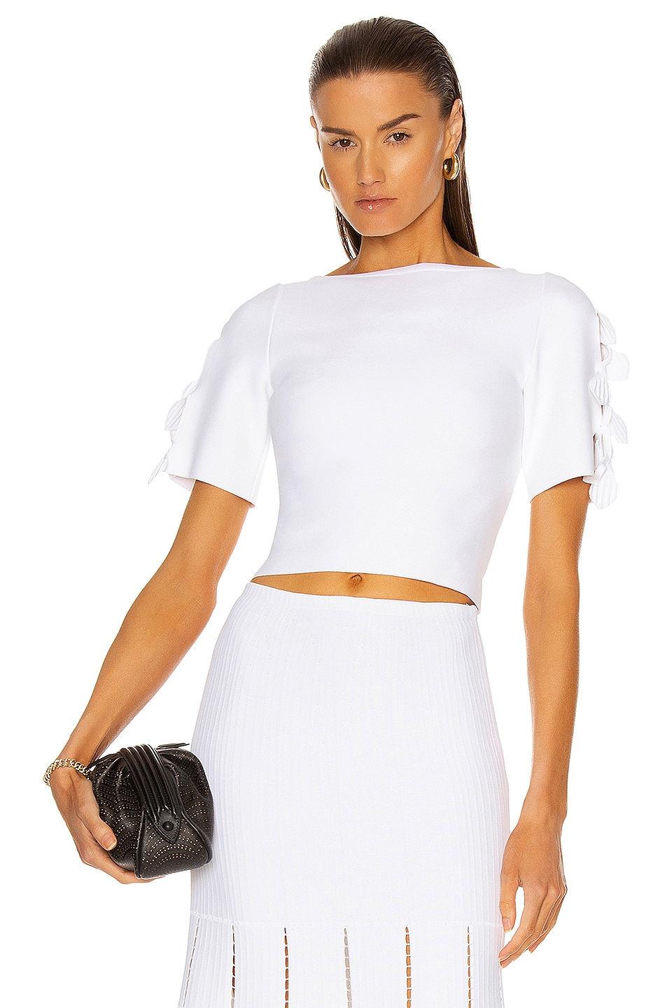 Image 1 of ALAÏA Pull Court Top in Blanc