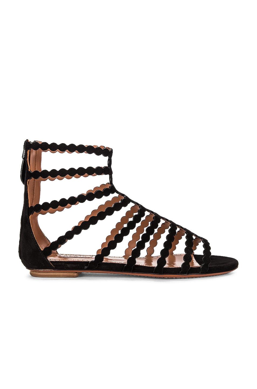Image 1 of ALAÏA Cage Sandals in Noir