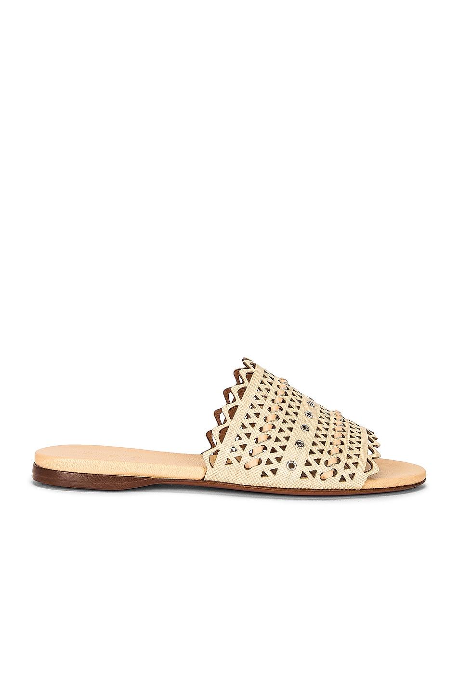 Image 1 of ALAÏA Raffia Sandals in Desert