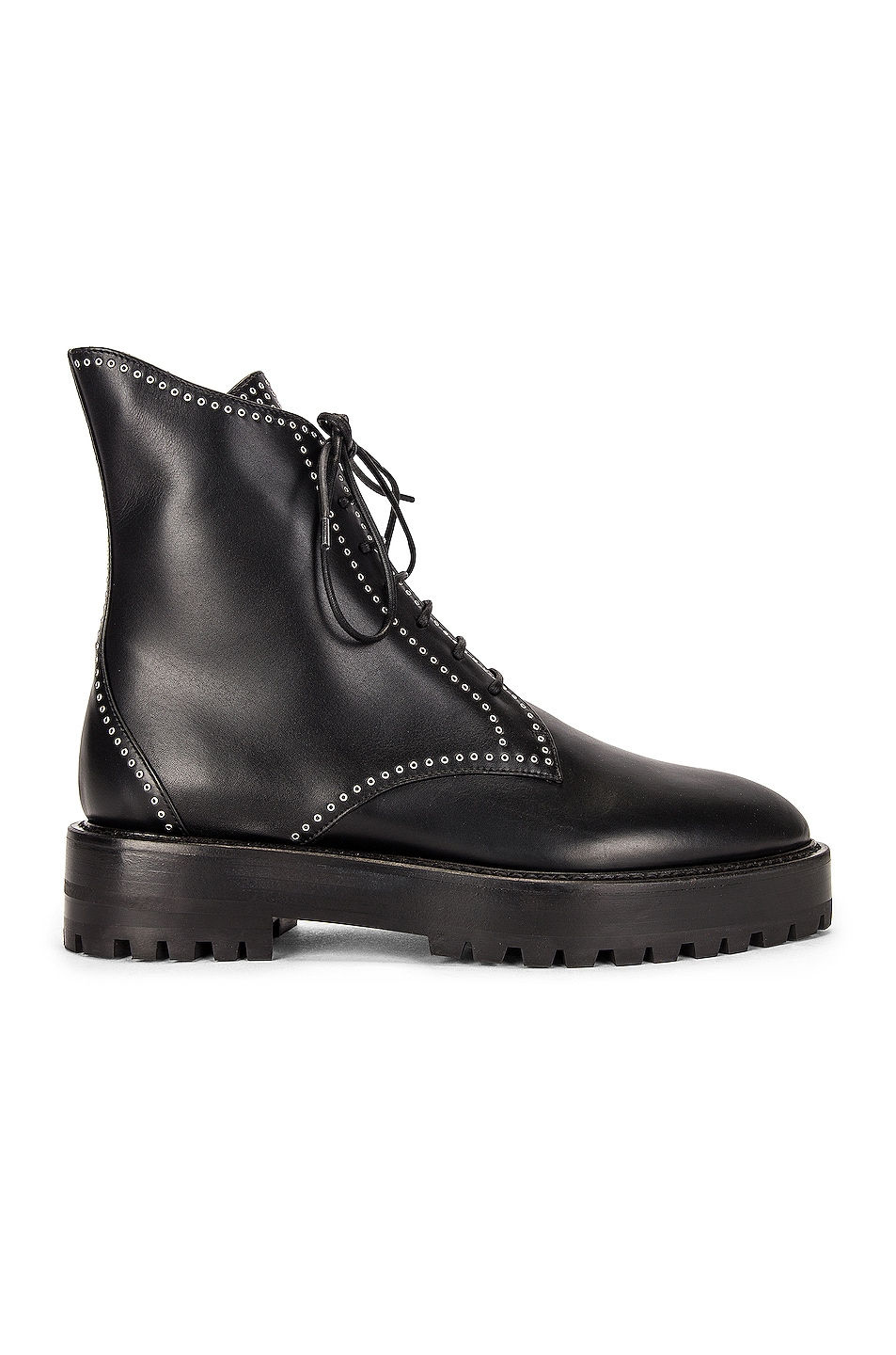 Image 1 of ALAÏA Leather Micro Oeillets Boots in Noir