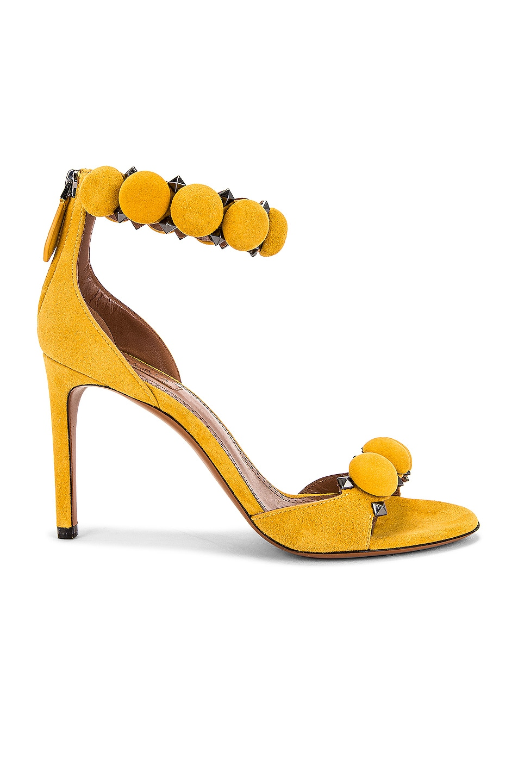 Image 1 of ALAÏA Bombe Ankle Bracelet Sandals in Jaune Safran