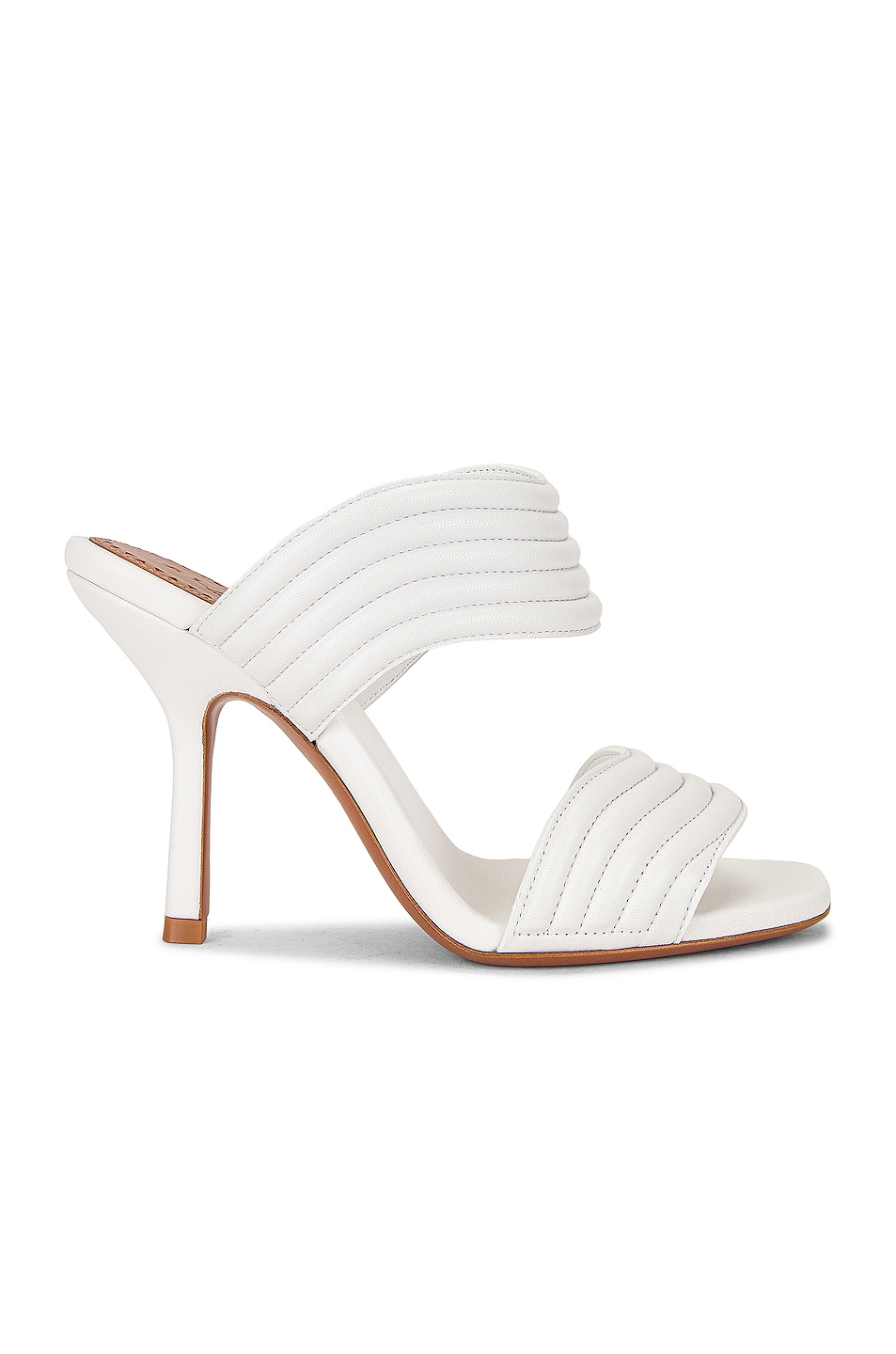 Image 1 of ALAÏA Leather Mules in Blanc Casse