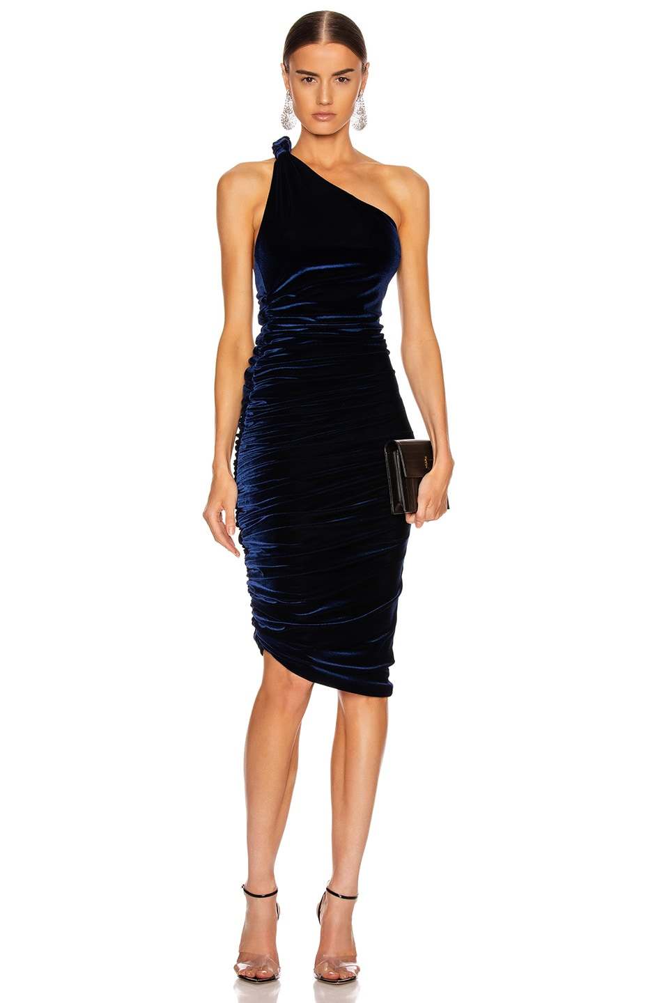 Image 1 of ALIX NYC Celeste Velvet Dress in Midnight