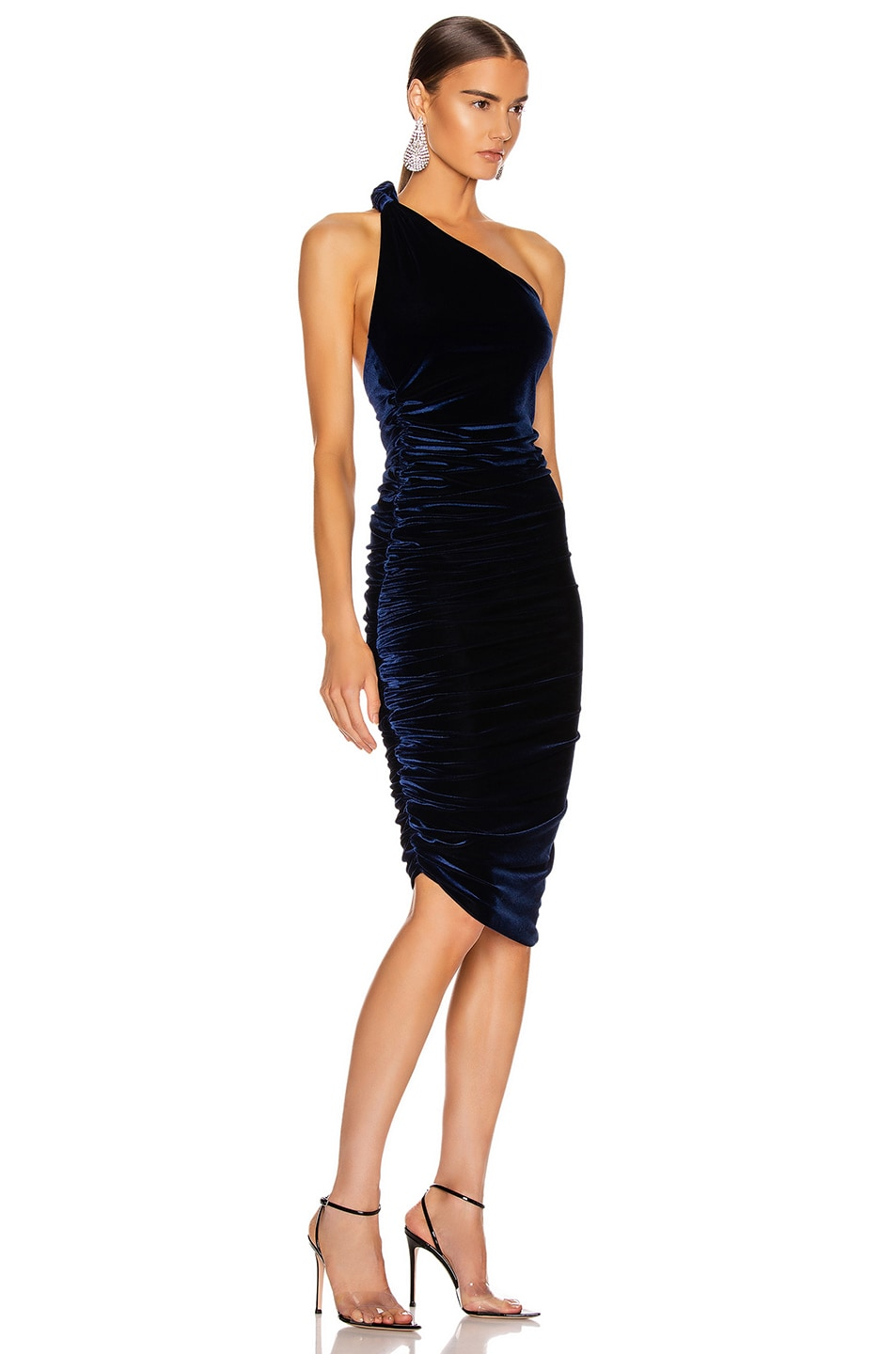 Image 2 of ALIX NYC Celeste Velvet Dress in Midnight