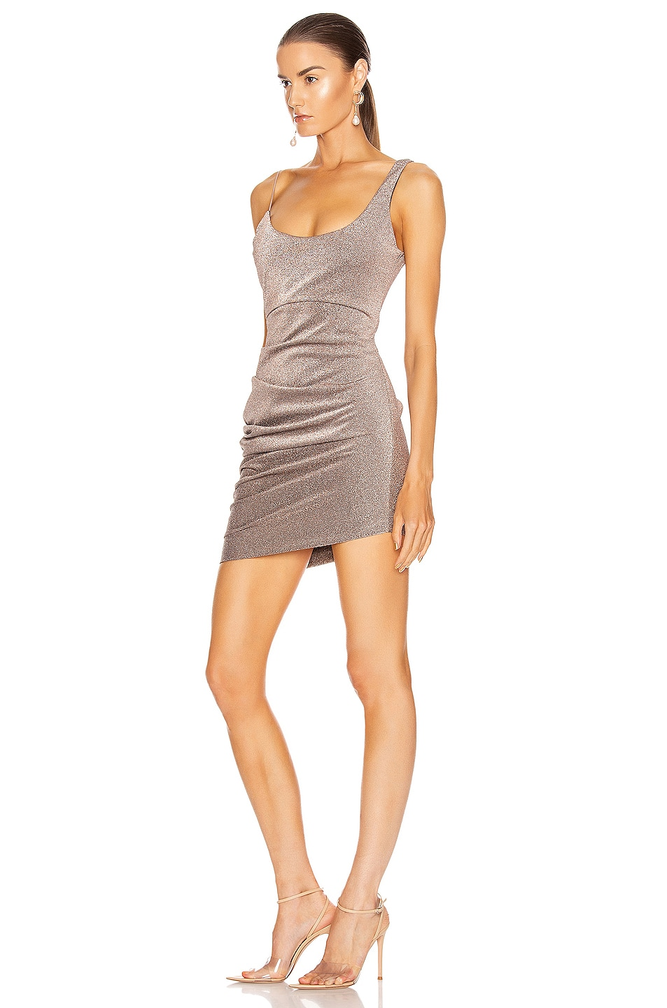 Image 3 of ALIX NYC Emmons Dress in Mercury Glitter