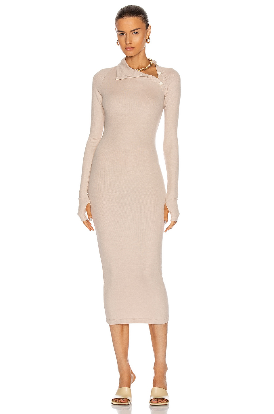 Image 1 of ALIX NYC Lisbon Dress in Almond