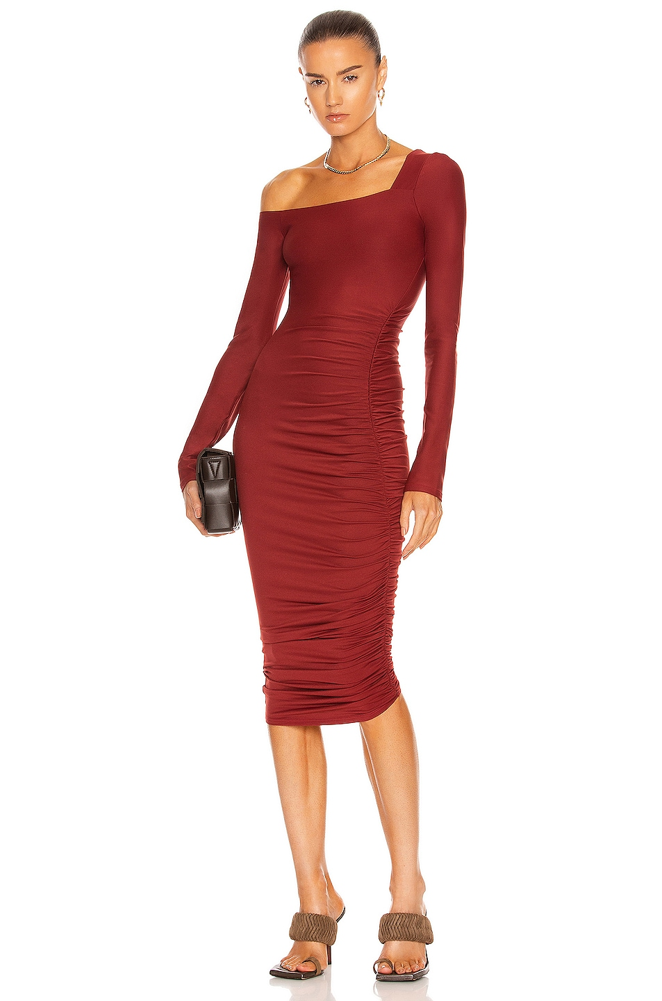 Image 1 of ALIX NYC Chambers Dress in Rouge