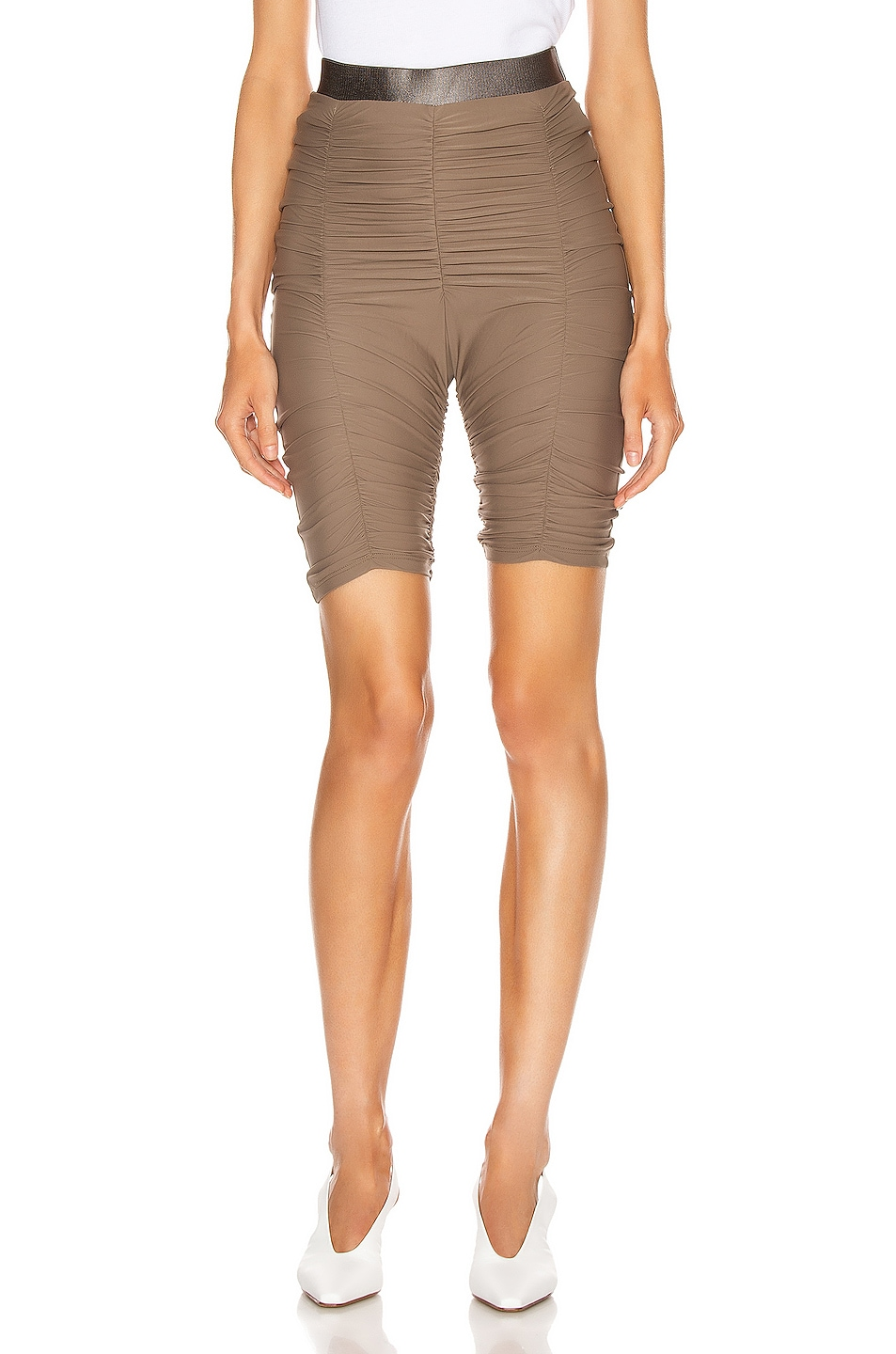 Image 1 of ALIX NYC Nixon Skin Biker Short in Army