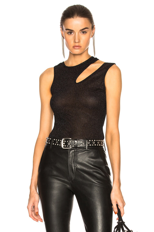 Alix Astor Bodysuit in Black,Metallics