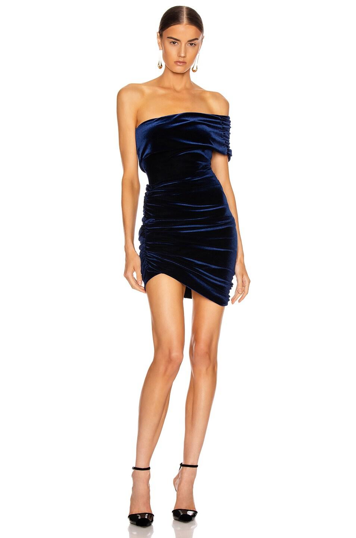 Image 5 of ALIX NYC Cyrus Velvet Skirt in Midnight