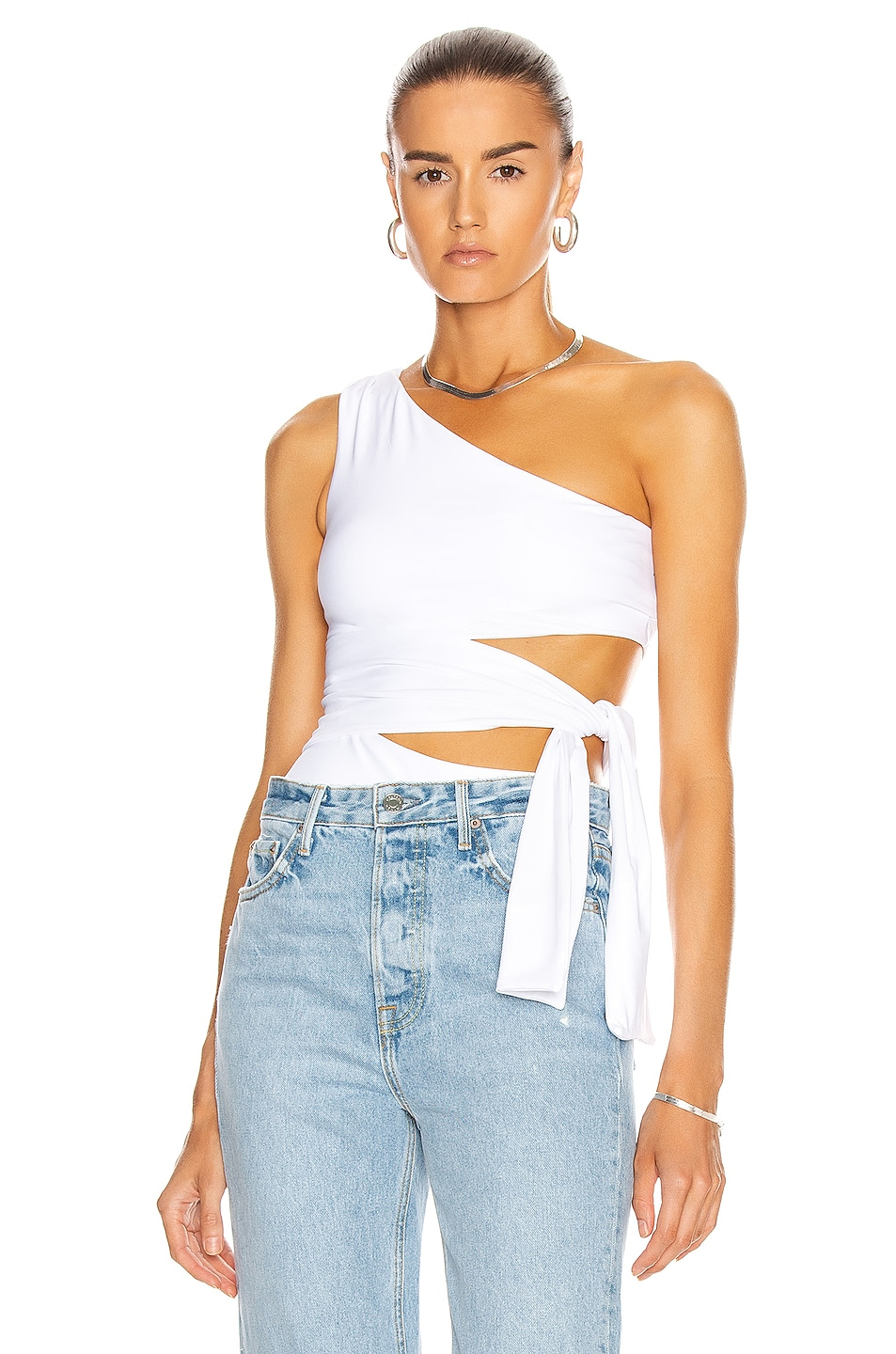 Image 1 of ALIX NYC Willow Bodysuit in White