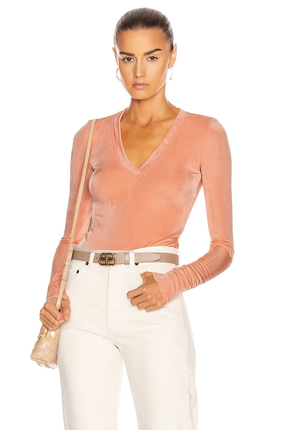 Image 1 of ALIX NYC Perry Bodysuit in Peach