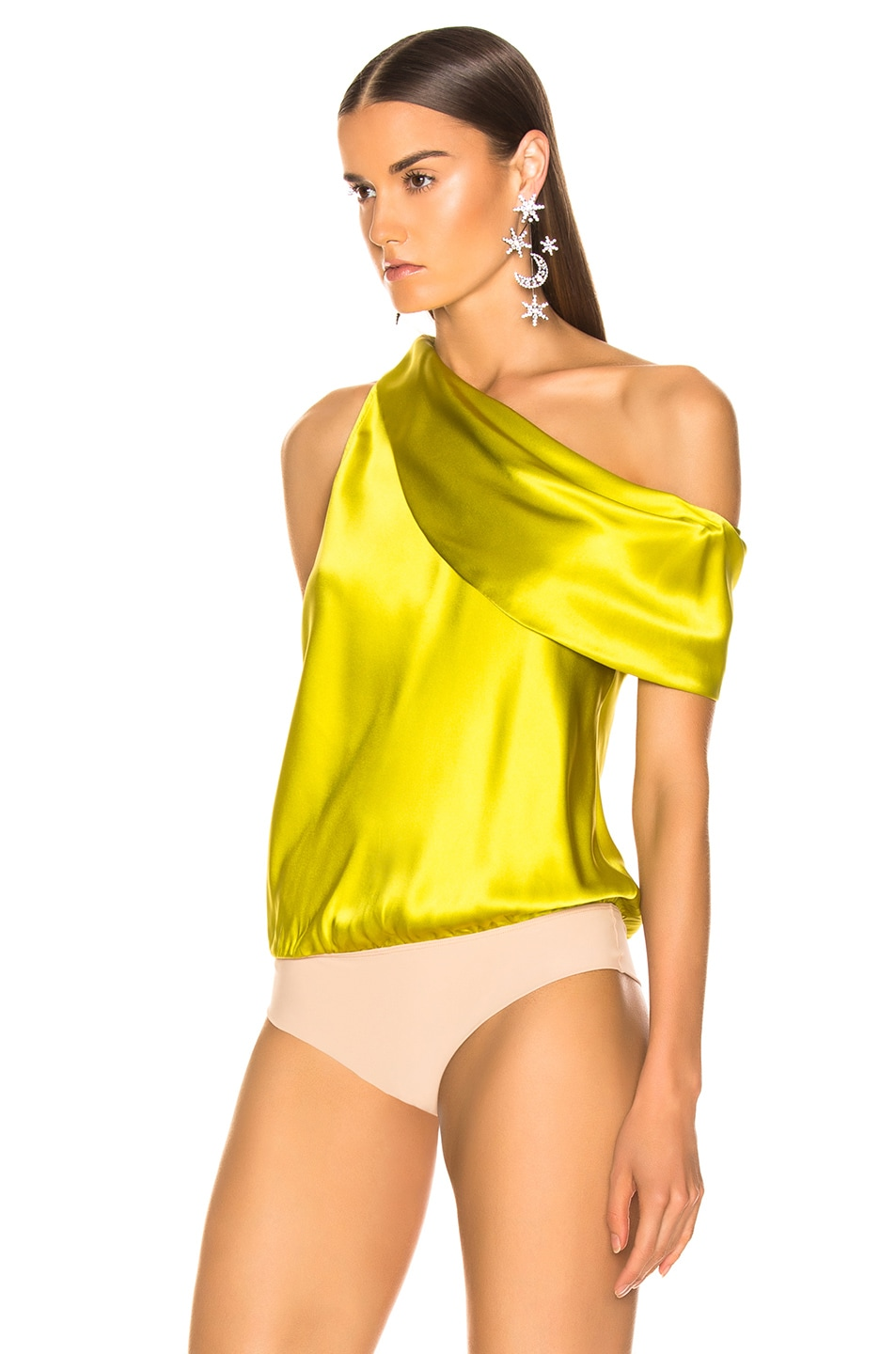 Image 4 of Alix Maiden Bodysuit in Chartreuse