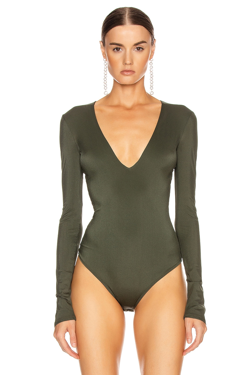Image 2 of ALIX NYC Irving Bodysuit in Hunter