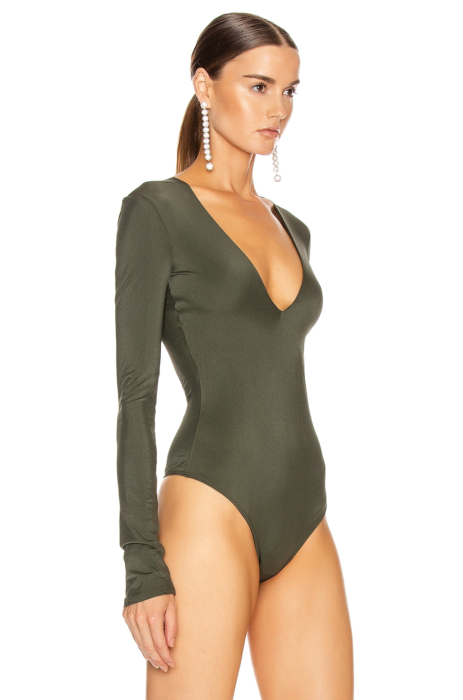 Image 3 of ALIX NYC Irving Bodysuit in Hunter