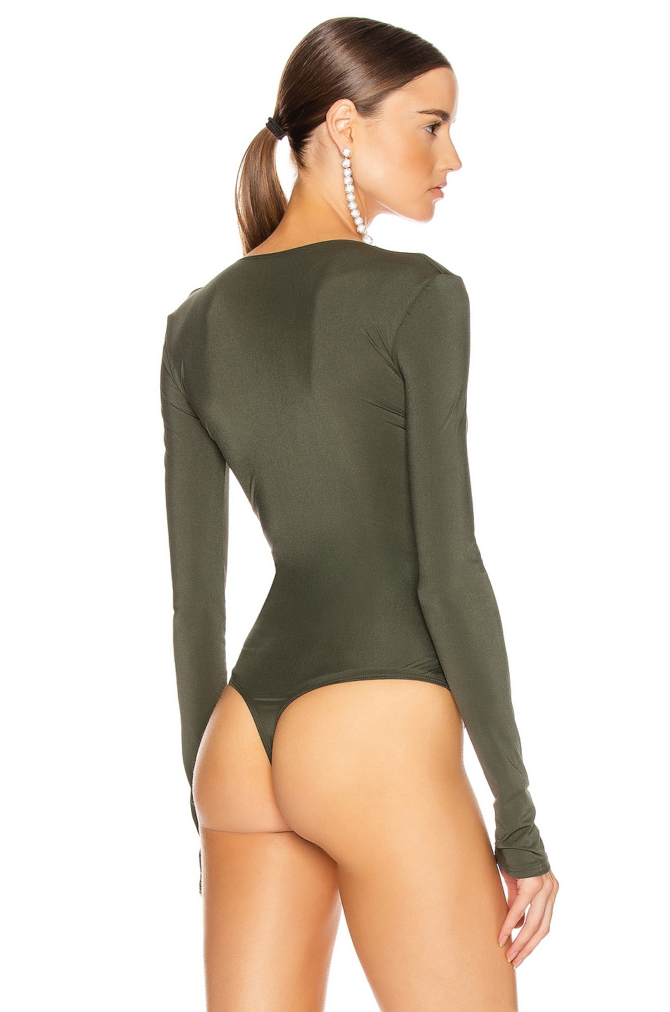 Image 4 of ALIX NYC Irving Bodysuit in Hunter