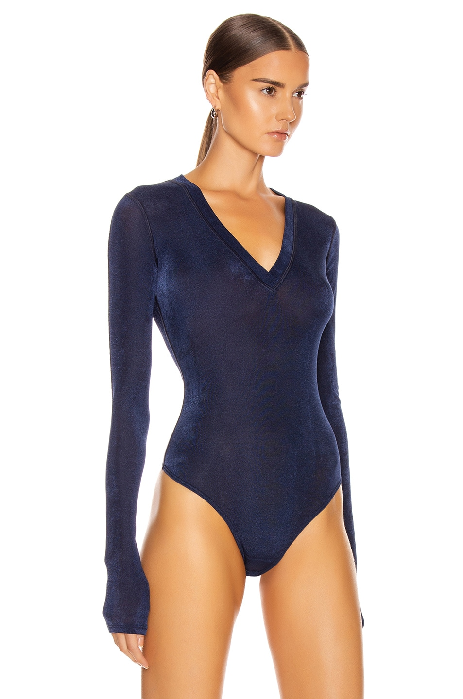 Image 3 of ALIX NYC Perry Bodysuit in Midnight