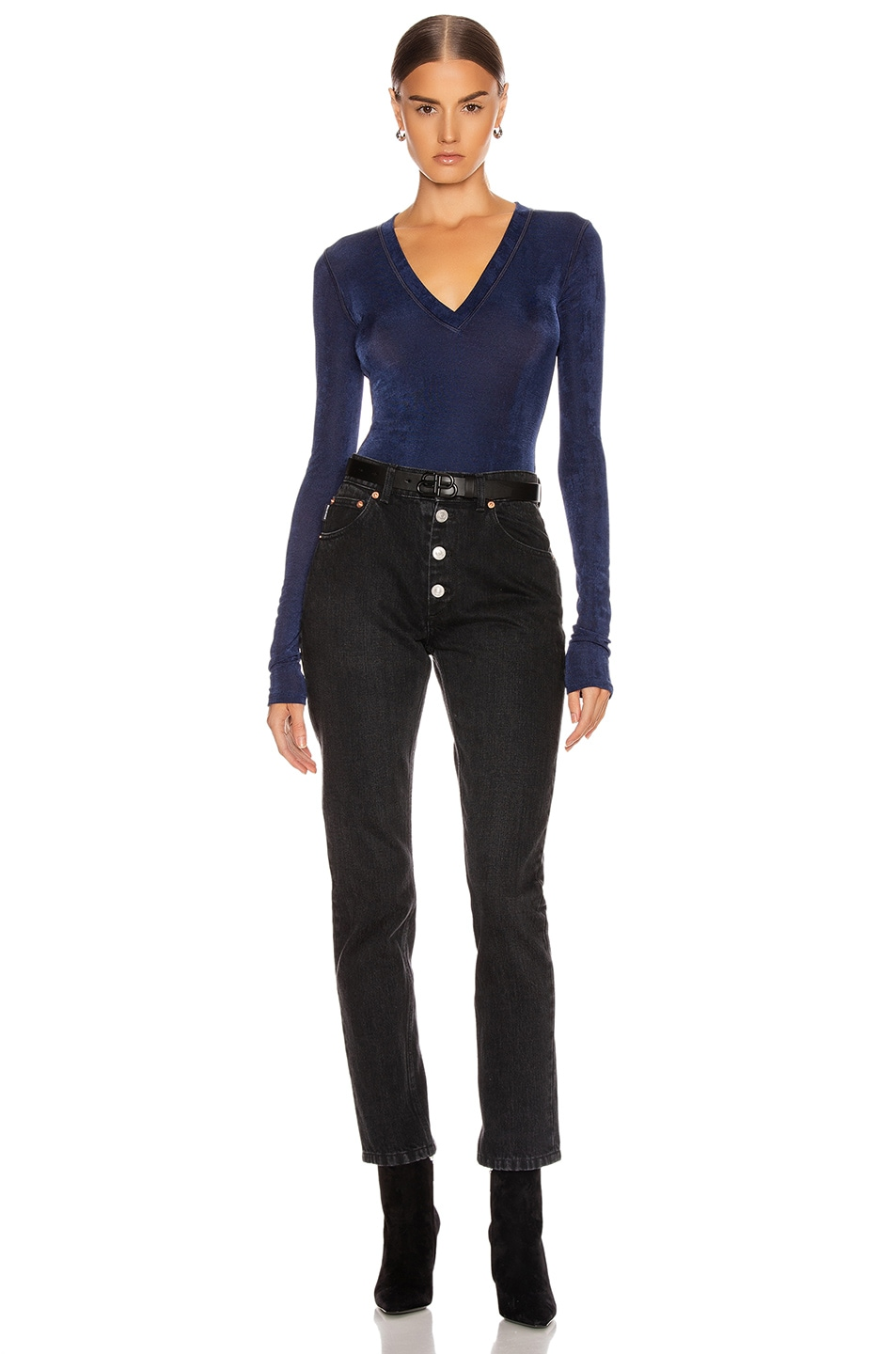 Image 5 of ALIX NYC Perry Bodysuit in Midnight